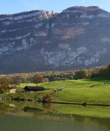 Vue du secteur de la Grande Gorge depuis le golf de Bossey